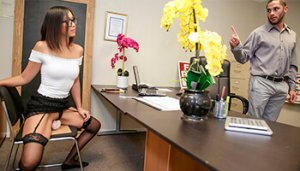 Asian Job Interview Jizz - Lexi Mansfield